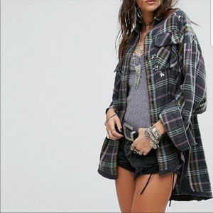 Free People Constellations Within Flannel M